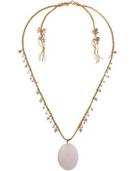 Lydell NYC - Semiprecious Pendant Necklace - Lyst