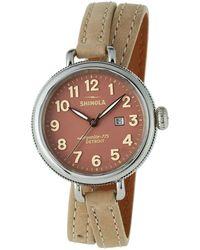 Shinola | 34mm Birdy Double-wrap Watch | Lyst