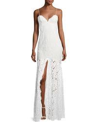 Fame & Partners - Babe Lace Front-slit Sleeveless Dress - Lyst