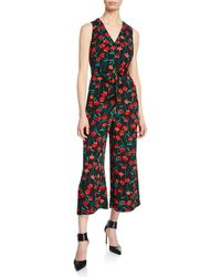 Karl Lagerfeld Floral Cropped Jumpsuit