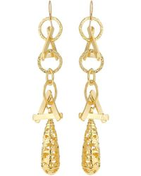 Devon Leigh - Triangular Chain-drop Earrings - Lyst