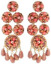 Lydell NYC - Multihued Statement Earrings - Lyst