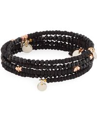 Nakamol - Beaded Disc-charm Stretch Bracelet - Lyst