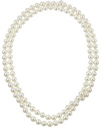 Majorica - Single-row Endless Pearl Necklace - Lyst