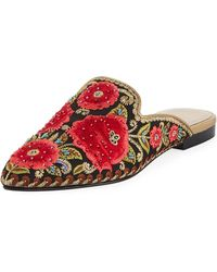 Andre Assous - Kosa Embroidered Flat Mule - Lyst