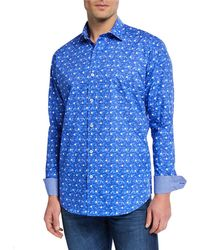 Bugatchi - Men's Printed Woven Sports Shirt - Lyst