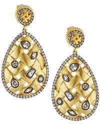 Freida Rothman - Lattice Teardrop Trellis Earrings - Lyst