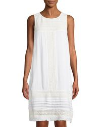 Neiman Marcus - Sleeveless Crocheted Gauze Dress - Lyst