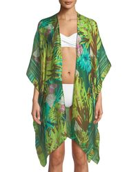 Raj - Tropical Printed Silk Kimono - Lyst