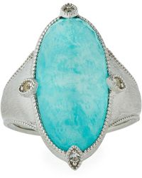Jude Frances - Encore Sterling Silver Amazonite/moonstone Ring - Lyst