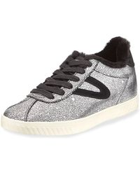 Tretorn - Callie Metallic Leather Sneakers - Lyst