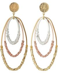 Nakamol - Two-tone Triple-hoop Earrings - Lyst