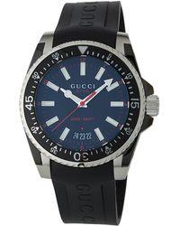 Gucci - Men's 40mm Dive Rubber Watch - Lyst