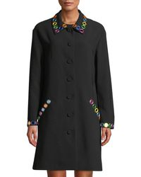 Moschino - Mirror-trimmed Button-front Coat - Lyst