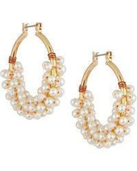 Nakamol - Pearl Cluster Hoop Earrings - Lyst