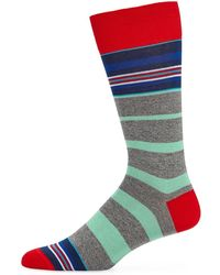 Bugatchi - Men's Multicolor Striped Socks - Lyst