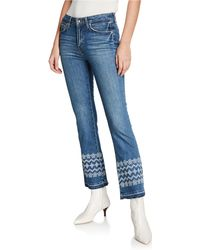10 Crosby Derek Lam - Jane Flared Ankle Frayed-edge Jeans - Lyst