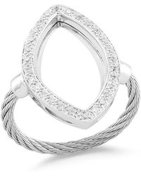 Alor - Open Diamond Pave Marquise Ring - Lyst