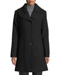 Fleurette - Pleat-collar Tweed Coat - Lyst