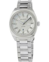 97b2eed6ba7 Lyst - Gucci Men s Gg2570 Swiss Stainless Steel Bracelet Watch 41mm ...
