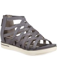 b11b48cc765f Tumbled Leather Criss Cross Banded Backstrap Sport Sandals.  195. Dillard s  · Eileen Fisher - Airy Woven Leather Stretch Sandals - Lyst