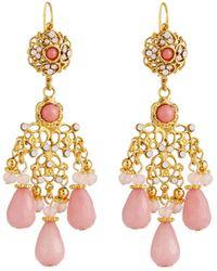 Jose & Maria Barrera - Filigree Chandelier Earrings - Lyst