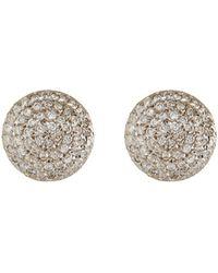 Gurhan | Lentil Ice 24k Gold & Diamond Button Earrings | Lyst