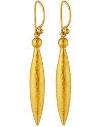 Gurhan - 24k Medium Wheat Drop Earrings - Lyst