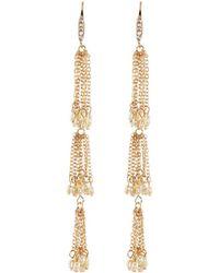 Lydell NYC - Three-tier Tassel Dangle Earrings - Lyst