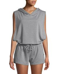 Joe's - Terry Cloth Sleeveless Hooded Romper - Lyst