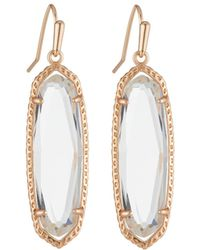 Kendra Scott - Layla Drop Earrings Clear Glass - Lyst