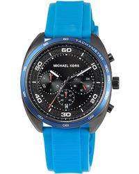MICHAEL Michael Kors - 43mm Dane Silicone Chronograph Watch - Lyst