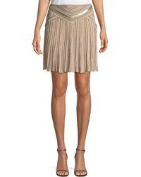 Roberto Cavalli | Multi-textured Pleated Mini Skirt | Lyst