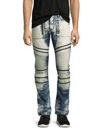 PRPS - Demon Joint Heavy Bleached Moto Jeans - Lyst