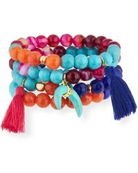 Panacea - Multicolor Beaded Stretch Bracelets - Lyst