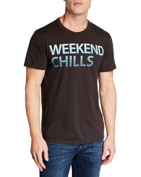 Chaser - Men's Weekend Chills Printed Cotton T-shirt - Lyst