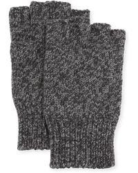 Neiman Marcus - Men's Cashmere Fingerless Knit Gloves - Lyst