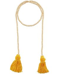 Kenneth Jay Lane | Beaded Rope Necklace W/ Tassel Ends | Lyst