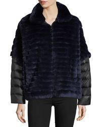 Gorski - Rex Rabbit Fur Jacket W/ Removable Down Sleeves - Lyst