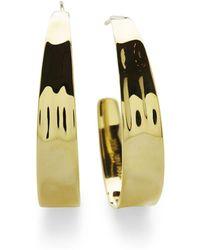 Ippolita - 18k Sensotm Tapered Hoop Earrings - Lyst