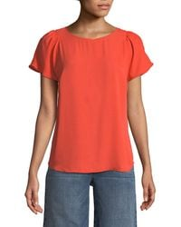 Cece by Cynthia Steffe - Lightweight Crepe Tee - Lyst