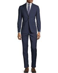 John Varvatos - Slim-fit Grid-jacquard Wool Two-piece Suit - Lyst