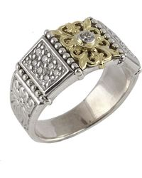 Konstantino | Asteri Floral Pave White Diamond Band Ring | Lyst