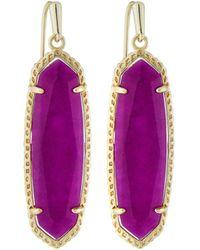 Kendra Scott - Layla Drop Earrings Purple Jade - Lyst