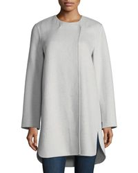 Neiman Marcus | Double-faced Curved Cashmere Coat | Lyst