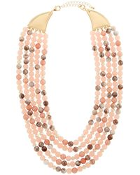 Lydell NYC - Short Multi-row Semiprecious Beaded Necklace - Lyst