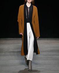 Narciso Rodriguez - Wool Gauze Cropped Straight-leg Pants - Lyst