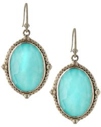 Armenta - New World Oval Drop Earrings W/ Diamonds - Lyst