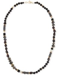 Akola - Beaded Moonstone Necklace - Lyst