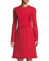 Mikael Aghal - Long-sleeve Ruffle Dress - Lyst
